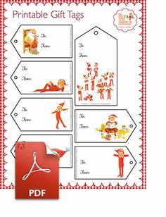#Elf On The Shelf #Printable #Christmas Gift Tags