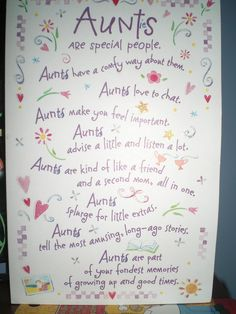 Aunties birthday card!