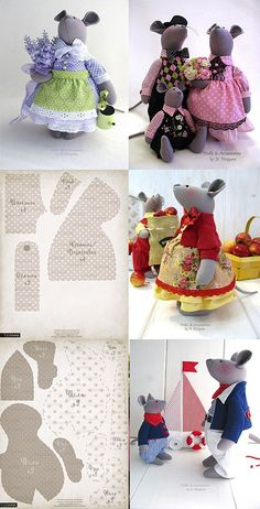 Wall - Her Crochet Sewing Toys, Sewing Crafts, Sewing Projects, Crafts To Do, Felt Crafts, Raggy Dolls, Primitive Doll Patterns, Mouse Crafts, Animal Sewing Patterns