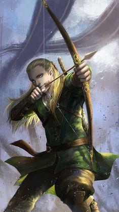 Legolas #lordoftherings #hobbit #fanart