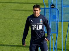 Citadin Martins Eder of Italy looks on during a training session at Italy club's training ground at Coverciano on November 7, 2017 in Florence, Italy. - 55 of 102