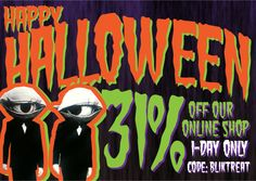 Save 31% at Blik this Halloween. 1 day only.