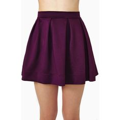 Scuba Skater Skirt - Berry (140 AED) ❤ liked on Polyvore featuring skirts, bottoms, berry, circle skirt, skater skirt, high waisted pleated skirt, purple skater skirt and high rise skirts
