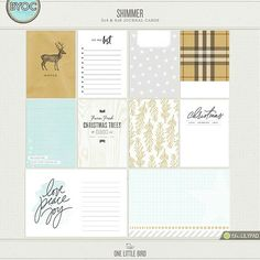 SHIMMER JOURNALING CARDS | by one little bird