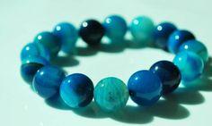 Blue Agate Bodhi Mala Bracelet / Meditation/ by BohoBeachJewelry, $7.00