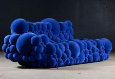 Belgian designer Maarten De Ceulaer has designed a perfectly named line of seating entitled Mutation Series. The bubbly-looking pieces are meant to resemble a cellular mutation or even a nuclear reaction, a virus, or something that has grown abnormally freakish.