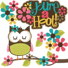 You're A Hoot! SVG Scrapbook Collection owl svg file cute owl cut files for scrapbooking