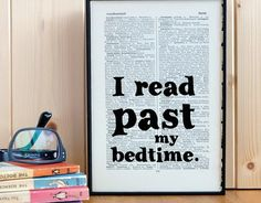 "Book-inspired presents for all the lit lovers in your life: ""I read past my bedtime"""