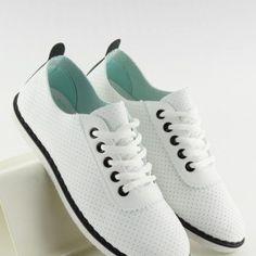 Pohodlné dámske biele tenisky s dierkovaným povrchom2 Sport, Sneakers, Fashion, Tennis, Moda, Deporte, Slippers, Fashion Styles, Sports