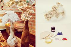 Flores feitas com filtro de papel