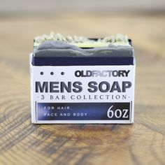 Mens Natural Soap Sampler by Old Factory and Parousia Perfumes
