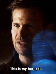 """When Alaric saved the Mystic Grill from ghost Connor's explosion. 