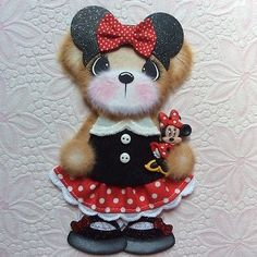 ELITE4U-Laura-MINNIE-MOUSE-BOUTIQUE-GIRL-Tear-BEAR-Premade-Scrapbook-3paperwishe