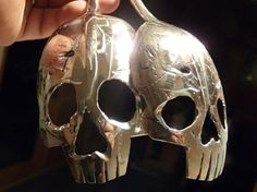 If It's Hip, It's Here (Archives): A Macabre Mouthful. Beautiful Silver Skull Spoons By Tom Sale aka Pinky Diablo.