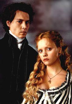 Ichabod Crane and Katrina Van Tassel from Tim Burton's Sleepy Hollow