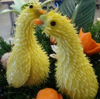 Fruit and vegetable carvings, from Culinary Delight Catering in Los Angeles: http://culinarydelightcatering.com