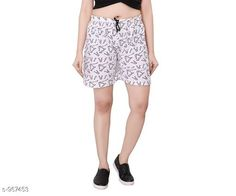 Shorts Stylish Cotton Hosiery Women's Shorts  *Fabric* Cotton Hosiery  *Waist Size* S - 26 in, M - 28 in, L - 30 in  *Length* Up To 18 in  *Type* Stitched  *Description* It Has 1 Piece Of Women's Shorts  *Work* Printed  *Sizes Available* S, M, L *   Catalog Rating: ★4 (449)  Catalog Name: Destiny Fabulous Cotton Hosiery Women's Shorts CatalogID_114450 C79-SC1038 Code: 322-967453-