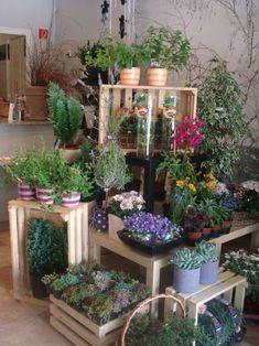53 impressive balcony garden design ideas planters and succu Flower Shop Decor, Flower Shop Design, Flower Shop Displays, Garden Center Displays, Garden Centre, Flower Shop Interiors, Flower Truck, Shop Interior Design, Design Interiors