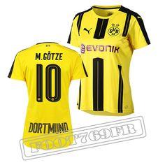 Promo Maillot Du Gotze 10 Borussia Dortmund Femme Jaune/Noir 16/17 Domicile : Bundesliga