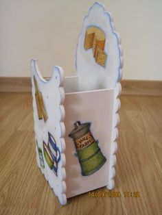 Páginas de cor da Luna: Milk carton holder - side
