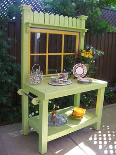vintage potting bench - Google Search