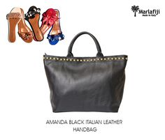 "Slide into MarlaFiji Amanda black  Italian leather Shopper large, spacious 100 % Italian full grain pebble leather your everyday everywhere bag ...throw in all bag ... fab as a fancy gym bag or baby bag ..match with your favorite slides love Amanda ...  Shop Now ---à  https://goo.gl/gU7iq3   ""FREE SHIPPING WITHIN AUSTRALIA""!! #Marlafiji #TopModel #Italian #leatherhandbags"