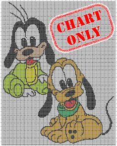 CHART ONLY Disney Babies Goofy Pluto Color Chart by StarSquared