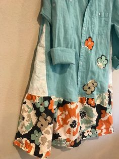The Talulah Dress: Upcycled recycled floral eco friendly Sewing Clothes, Diy Clothes, Clothing Redo, Recycling, Shirt Refashion, Altering Clothes, Sustainable Clothing, Cotton Skirt, Cycling Outfit