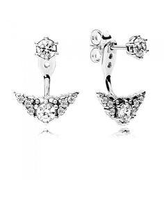 Pandora Fairytale Tiara Stud Earrings, Clear CZ 296228CZ