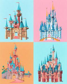 Disney Parks Castles Inspired Print - Früchte im Garten Disneyland Paris Weihnachten, Disneyland Paris Christmas, Disneyland Paris Castle, Vintage Disneyland, Disney Dream, Disney Love, Disney Magic, Disney Parks, Disney Pixar