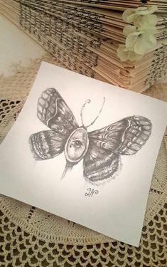 Moth and eye doodle