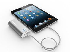 Jackery Bar 5600mAh (Silver) 5V 2.1A Output Backup External Battery Pack Charger (Premium Samsung Battery Cell and Metal Enclosure Design) with built-in Flashlight for Apple: iPad mini, iPhone 5 (Apple Cable Required) / iPhone 4S, iPad 4/3/2, iPod; Most Android Phones: Samsung Galaxy S3, Galaxy Note 2, all Samsung Galaxy Series Smartphones; Motorola Droid Razr, X2, Bionic; HTC One X, One S, Sensation, EVO, ThunderBolt; Nokia N9 Lumia 900 800; GoPro | Powerbank Charger