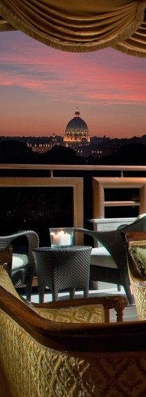 Michangelo Hotel in Rome..has a fantastic view of Rome and is within walking distance of Vatican City.