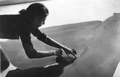 Helen Frankenthaler photographed in her NYC studio by Austrian photographer and artist Ernst Haas, 1969.