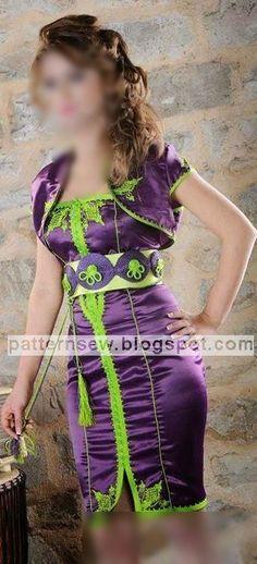 باترون مفصل لقفطان قصير - Pattern Sewing