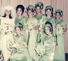 Girl has a diverse group of friends- and then made them all look uniformly bad. Vintage Wedding Photos, Vintage Bridal, Wedding Pics, Wedding Bride, Wedding Styles, Vintage Weddings, Wedding Attire, Vintage Photos, Always A Bridesmaid