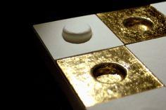 Andretto © Design - Upside Down Ivory / gold - MURANO GLASS