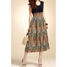 $8.74 Lady Vintage Sleeveless Bohemian High Waist Long Dress