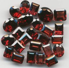 Garnet ~ The stone of Health and commitment-to purpose, to others, and to oneself. (Also my birthstone). It enhances ones inner FIRE! Love it!