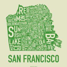 Typographic Maps: San Francisco