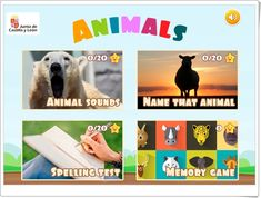 """""""Animals"""" (Juego en inglés sobre animales) Memory Games, Science And Nature, Fruit, Natural, Teaching Resources, Learning, Animales, Memory Verse Games, The Fruit"""