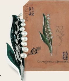 Lily of the Valley pin by Oscar Heyman