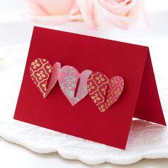 Valentine Card Making - St Valentin Fleurs Valentines Card Design, Diy Valentines Cards, Homemade Valentines, Valentine Day Crafts, Valentine Ideas, Handmade Greetings, Greeting Cards Handmade, Valentines Bricolage, Ideas