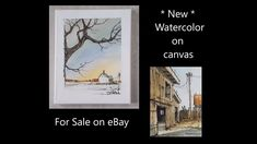 """New 8""""x 10"""" Watercolor on canvas and ACEO painting for sale on ebay. Pet... Peter Sheeler, News 8, Watercolor Canvas, Sale On, Paintings For Sale, Pets, Youtube, Ebay, Watercolor"""