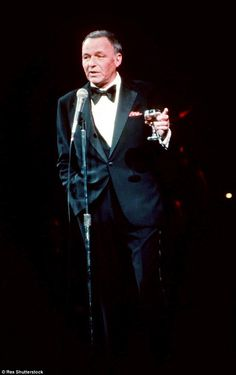 Big names: The concert, held in celebration of the Sinatra's 100th birthday, also featured...