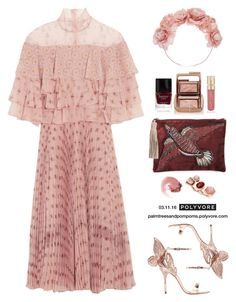 """""""Melbourne Spring Carnival 🐎 / Valentino Ruffled printed silk-chiffon dress"""" by palmtreesandpompoms ❤ liked on Polyvore featuring Valentino, Sophia Webster, Sam Edelman, Hourglass Cosmetics, Butter London, Smith & Cult and NARS Cosmetics"""