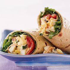 Egg-Vegetable Salad Wraps