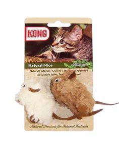 KONG NATURALS - CATNIP MICE. Available from www.nuzzle.co.za