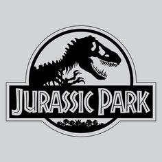"shape-form: "" Jurassic Park Designed by Chip Kidd USA "" Jurassic Park Party, Jurassic Park 1993, Jurassic Park Logo, Jurassic Park World, Fashion Kids, Trunk Or Treat, Parking Design, Shirt Embroidery, Silhouette"