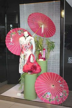 Clean and Simple window display in Vancouver shopping centre vacant unit. Great use of an empty space!